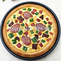 Pudding pipe pizza food model simulation model of fake food dish sausage pizza vegetable