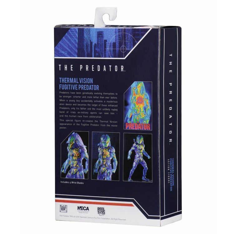 Neca os predadores visão térmica fugitivo predador pvc figura de ação collectible modelo brinquedo