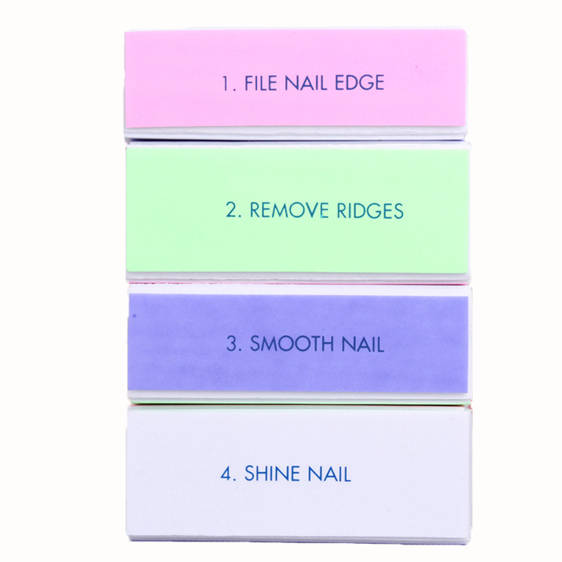 5PcsProfessional Colorful 4 Way Nail Files For Manicure Nail Buffer ...
