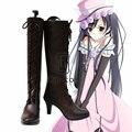 Anime Black Bulter Kuroshitsuji Ciel Girls Shoes Cosplay Party Boots Custom Made