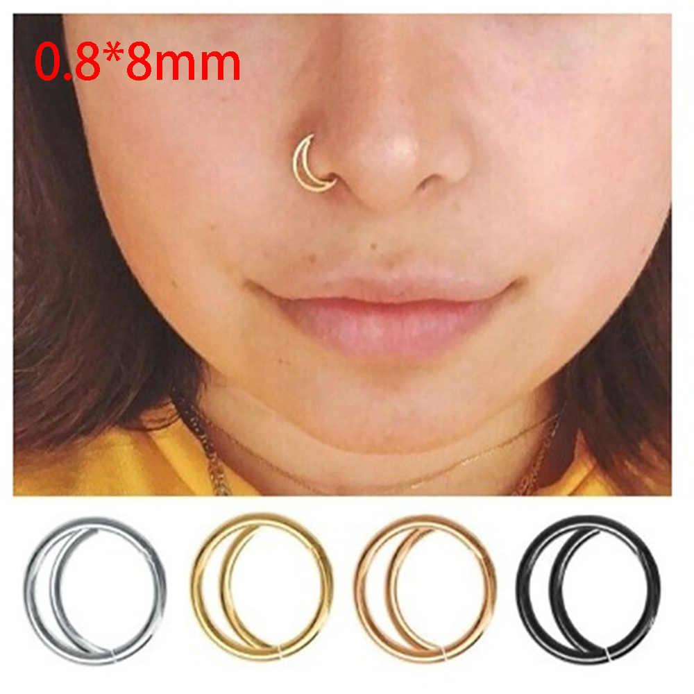 TIANCIFBYJS 3Pcs Opal Ear Pierced Tragus Helix Earring Cartiliage Piercing Earring Body Jewelry Lip Ring