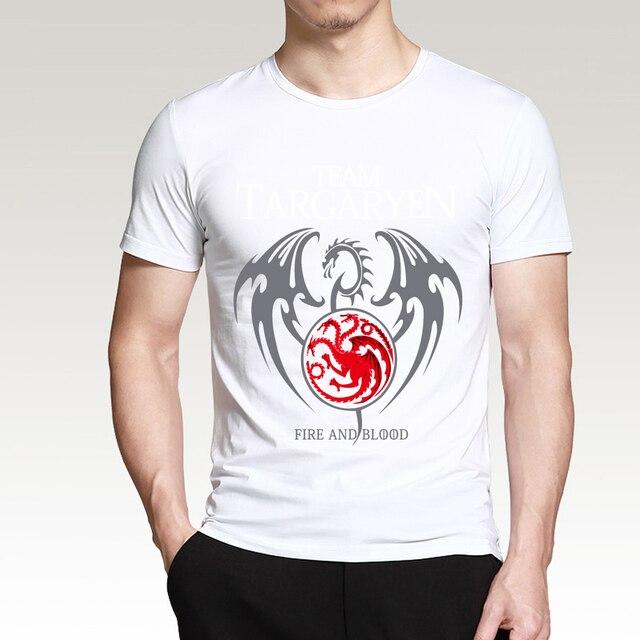 """Team Targaryen"" Cotton Male T-Shirts  4"