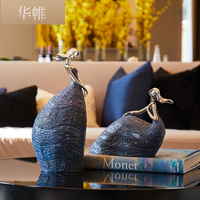 European retro creative abstract belle statue , figure resin sculpture,Classical Maiden Statuette ,Home decoration accessories