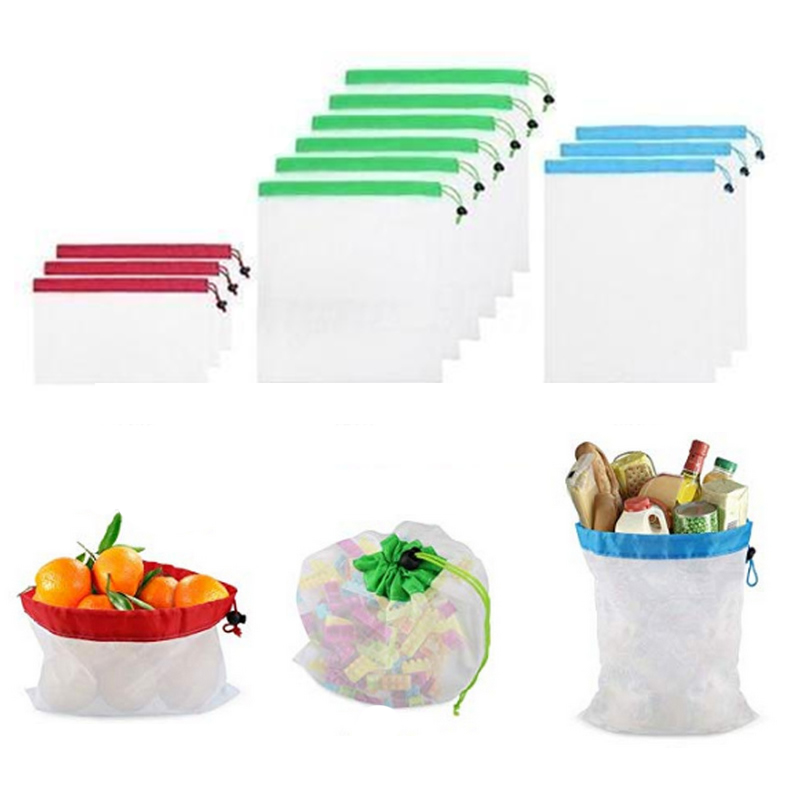 1PCS Mesh Shopping Toys Bag Reusable Washable Eco Friendly Shopper Bag Grocery Supermarket Fruit Vegetable Sundries Storage Pack
