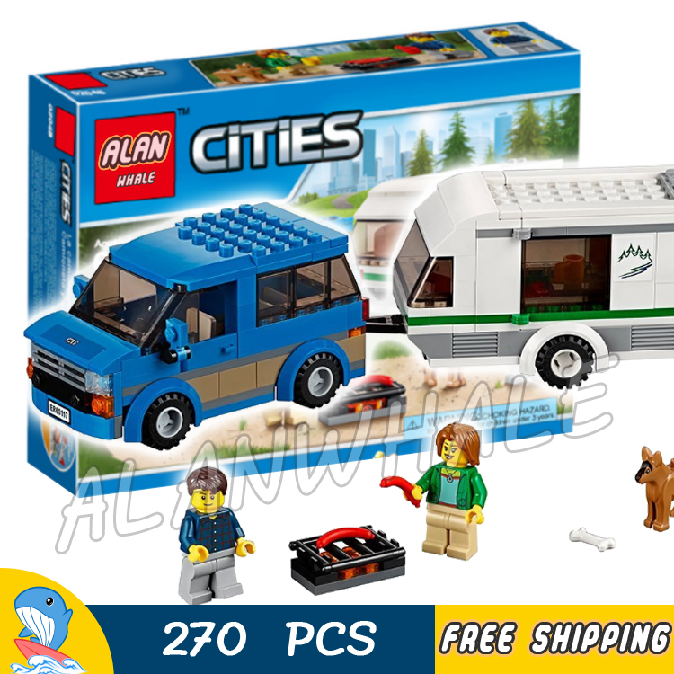 270pcs New City Great Vehicles Van & Caravan Firefighter 02048 Model Building Blocks Children Toys Bricks Compatible With lego lego city great vehicles буксировщик автомобилей 60081