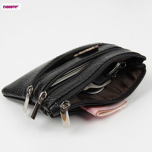 DOLOVE Brand New Genuine Leather Coin Purse Women Small Wallet Change Purses Money bag Zipper Card Holder Dollar Wallets(China)