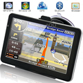 Automóvel portátil de Navegação GPS Bluetooth AV-IN Carro Navegador GPS Sat Nav 8 GB 256 M Mapas RU EUA Europa Navegadores para o Turista