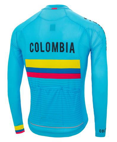 the best attitude b9402 555de US $28.0  WINTER FLEECE THERMAL 2019 COLOMBIA NATIONAL TEAM ONLY LONG  SLEEVE ROPA CICLISMO CYCLING JERSEY CYCLING WEAR SIZE XS 4XL-in Cycling  Jerseys ...