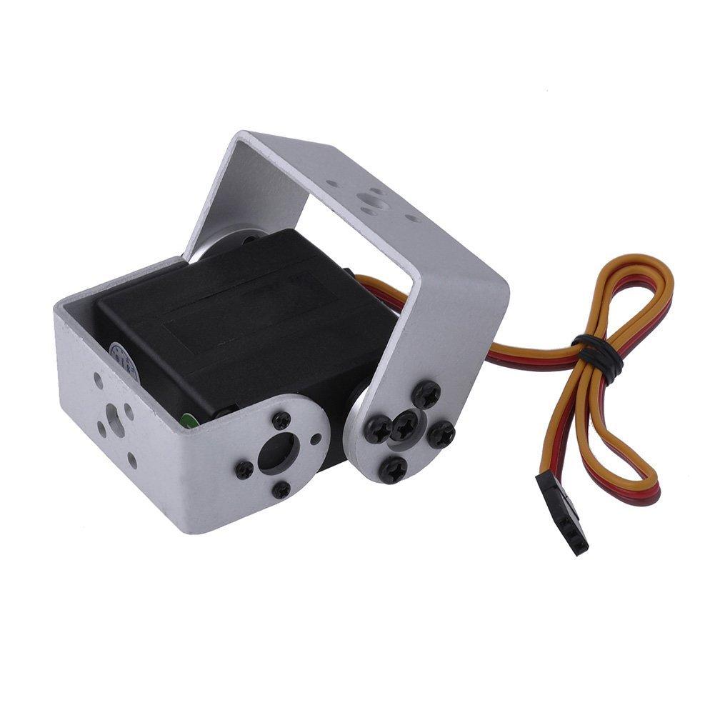 Oyuncaklar ve Hobi Ürünleri'ten Parçalar ve Aksesuarlar'de 4 adet/grup DM RS151M DOMAN RC çift şaft robot servo metal dişli servo 180/270/360 derece servo 15 kg dijital servo'da  Grup 1