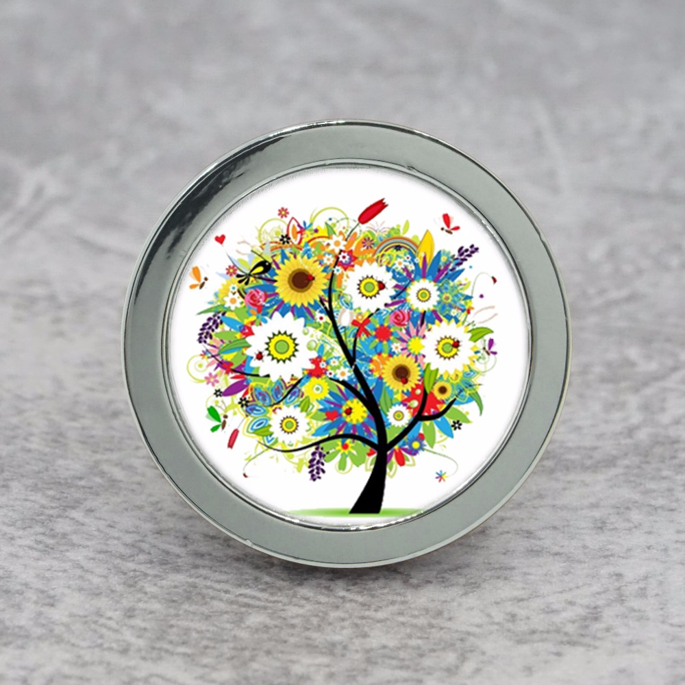 Colorful Tree Drawer Knobs Dresser Handles / Handmade Knobs Pulls / Cupboard Knobs Cabinet Handles Kitchen Hardware css clear crystal glass cabinet drawer door knobs handles 30mm