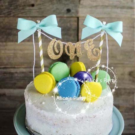 Online Shop Hot Handmade One Baby Shower Cake Bunting Sale Gold Art