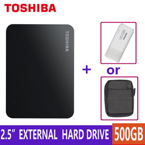 TOSHIBA 500GB External Hard Drive Disk HDD Portable Storage Device CANVIO BASICS HD USB 3.0 SATA 2.5