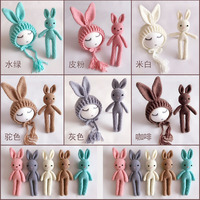 2017 Baby Photo Props Newborn Photography Accessories Props Crochet Knitting Baby Bunny Costumes Set Rabbit Hats