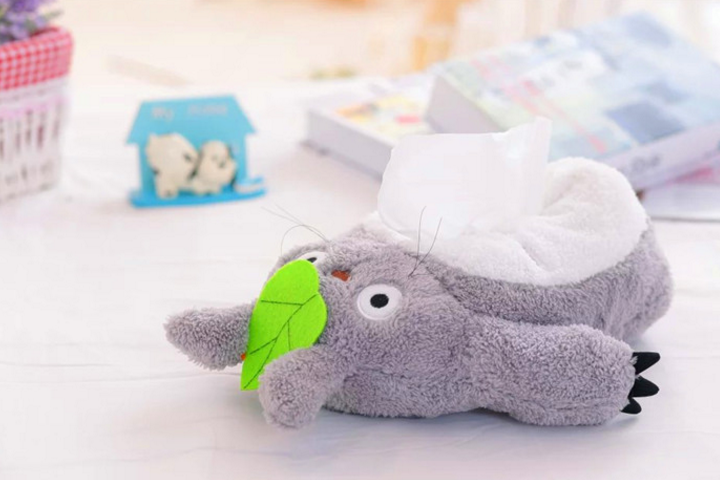 1 Pcs Kawaii de bande dessinée en peluche jouet Totoro Point De chat chat canard Dumbo Tissue Box Cover Serviette En Papier Cas cadeau