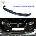 Estilo de Fibra De carbono 3D/AC Olha/M-Tech/M-Desempenho Frente lábio Para BMW F30 F35 2012 2013 2014 2015 316i 318i 320i