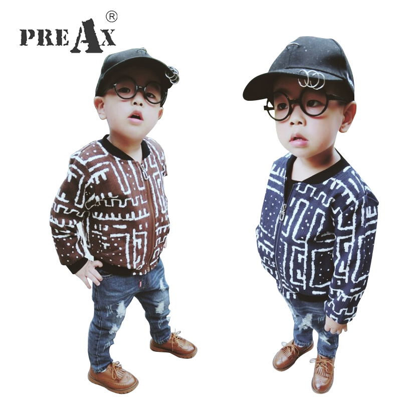 2018 Spring New Korean Boys Coats Long Sleeves Zipper Cardigan Jacket Children Boy Outwear Fashion Printed Children Toddler Wear