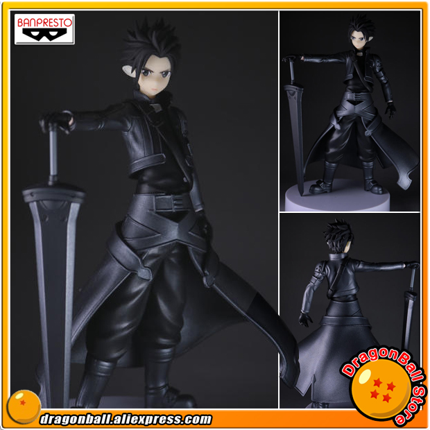 Japan Anime Sword Art Online: Fairy Dance Original Banpresto Collection Figure - Kirito (Special Color Ver.) gonlei anime sword art online fairy