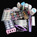 New Kit !Nail Art UV Gel Solid Extension Manicure set  + Builder Polish brush + base coat + top coat nail art set