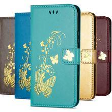 Gilding Butterfly Case For Xiaomi Mi Pocophone F1 Redmi 5 Plus 5A A2 Lite Note 6 Pro Magnet Lock Wallet Cover P02G