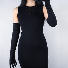Suede Leather Womans Gloves Extra Long 60cm Simulation Dance Party Fashionable Female New Style TB117