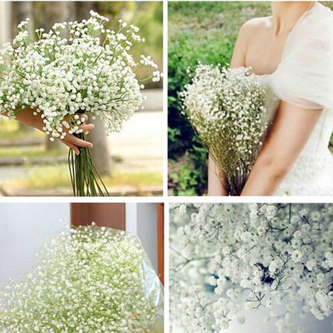 2016 New 10pcs/Lot Beautiful Gypsophila Artificial Fake Silk Flowers Baby Breath Plant Home Wedding Decorations