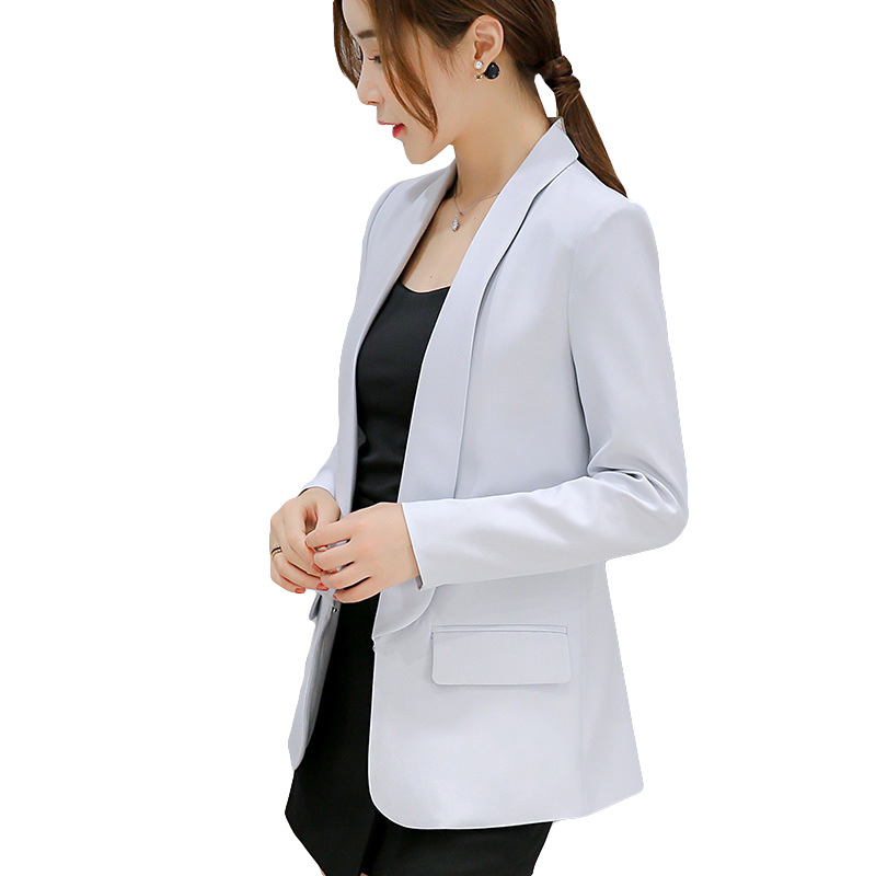 2018 autumn and winter new women Cardigan small suit jacket Korean wild small suit Slim large size fashion was thin suit jacket ...