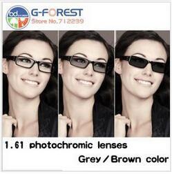 1.61HMC lentilles de prescription lentilles photochromiques en 1.61 index couleur grise/couleur marron lentilles optiques livraison gratuite lentille en résine