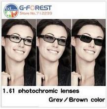 1.61HMC brillenglas photochrome linsen in 1,61 index grau farbe/braun farbe optische linsen Kostenloser versand harz objektiv