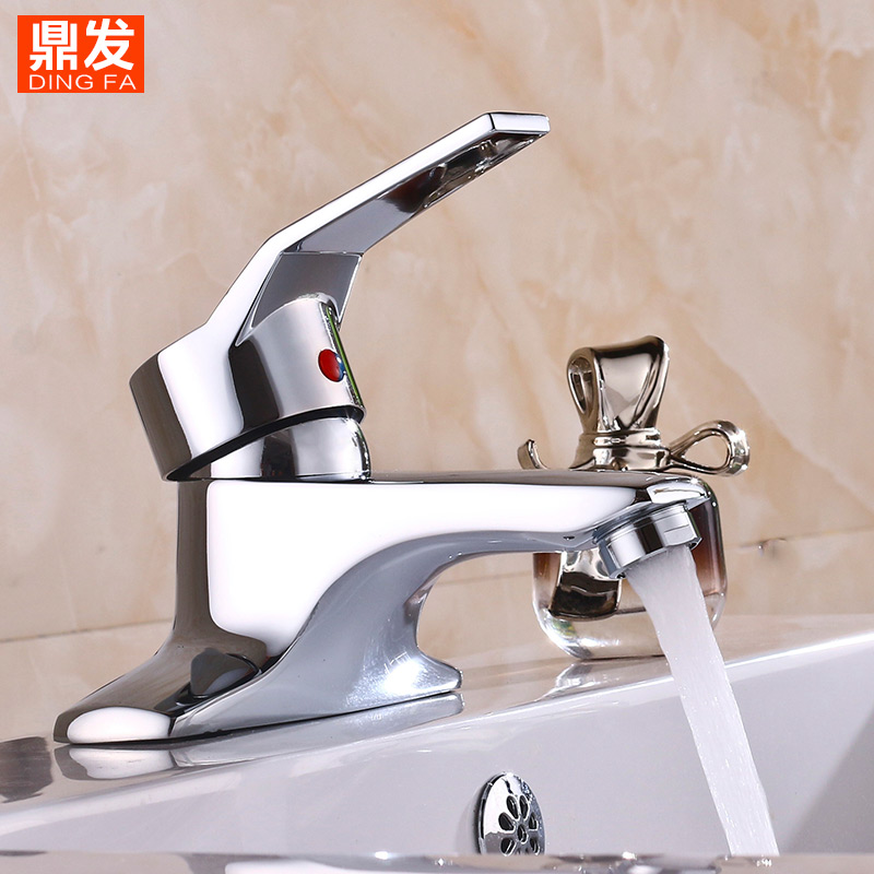 Bathroom Faucet, Hot and Cold Basin Double Hole, Bath Basin Sink Faucet Three-hole Wash Basin Sink Faucet Brass and Alloy copper three hole sink basin faucet golden brass handle bathroom bathtub faucet deck wash basin faucet mixer hot and cold