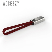 !ACCEZZ 2.4A USB Fast Charging Cable For Iphone X XR XS Charger Cables IPhone 6S 7 Plus Keychain Charge Sync Data Cord 0.25M