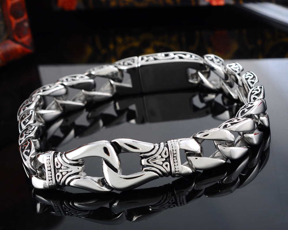 LASPERAL 1PC Stainless Steel Bracelet Biker Bicycle Bracelets For Men Punk Rock Bracelets Jewelry High Quality Male Jewelry trustylan cool stainless steel dragon grain bracelets men new arrival punk rock keel mens bracelets