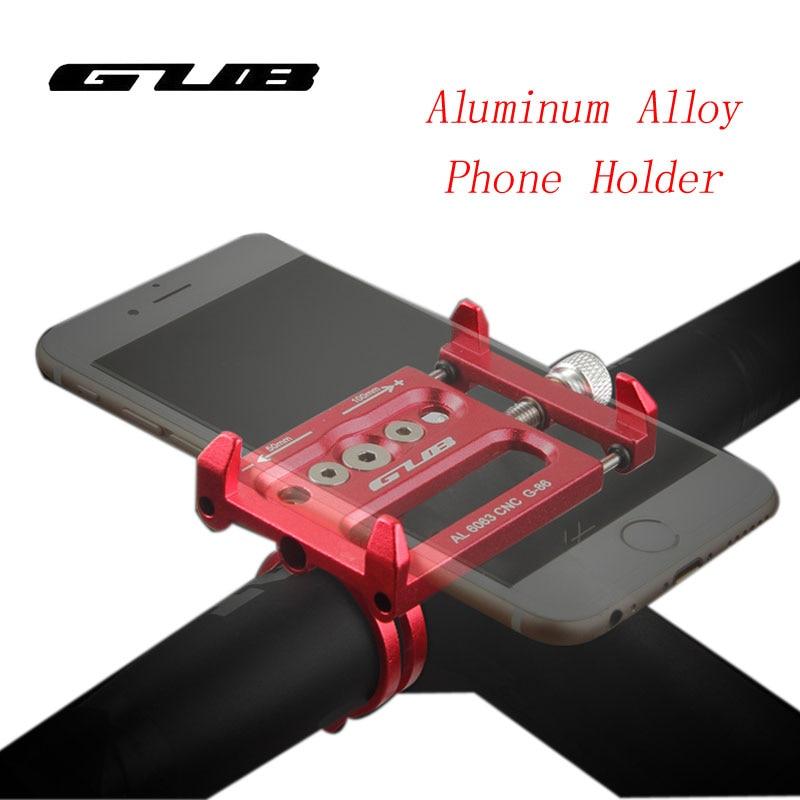 GUB G-85 4 Color Adjustable Universal Bike Phone Stand For3.5-6.2inch Smartphone Aluminum Bicycle Handlebar Holder Mount Bracket