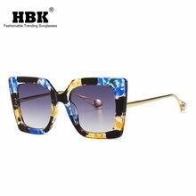 Классические синие цветочные солнцезащитные очки женские роскошные брендовые дизайнерские жемчужные солнцезащитные очки «кошачий глаз» Для женщин UV400