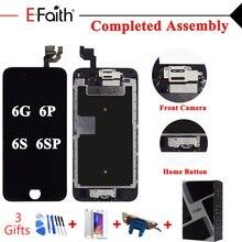 Efaith kompletny wyświetlacz LCD dla iPhone 6 6s lub 6 plus 6s plus lub 5 ekran dotykowy pełny zespół ekranu i przednia kamera i przycisk Home
