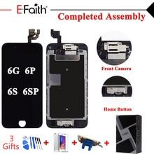 Efaith lcd completo para iphone 6 6s ou 6 mais 6s mais ou 5 tela sensível ao toque montagem completa & câmera frontal & botão de casa