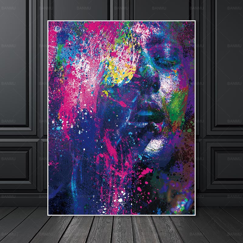 Portrait Canvas Portray Artwork Footage house decor Wall poster ornament for front room Determine prints on canvas no body Portray & Calligraphy, Low-cost Portray & Calligraphy, Portrait Canvas Portray...