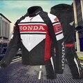 Rojo/negro honda racing trajes trajes de motociclismo chaqueta de la motocicleta de los hombres cuatro estaciones impermeable y envío de la gota libre