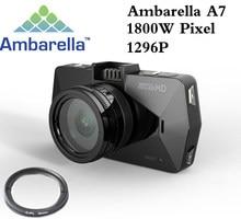 Melhor câmera ambarella a7 la70 carro dvr gravador de vídeo completo hd 1296 p gps registrador visão noturna polarização cpl filtro suporte 64g