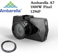 Best camera Ambarella A7 LA70 Car DVR Video Recorder Full HD 1296P GPS Logger Night Vision polarizing CPL Filter Support 64G