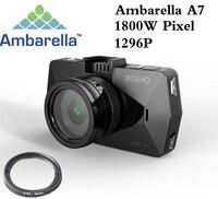 Best Camera Ambarella A7 LA70 Car DVR Video Recorder Full HD 1296P GPS Logger Night Vision