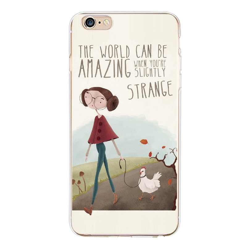 Moda dziewczyna kot pies mama lisa kwiat miękki przezroczysty TPU etui na telefony dla iPhone 4/4S 5 5S 6 6 plus 7 8 plus dla iPhone x darmowa wysyłka