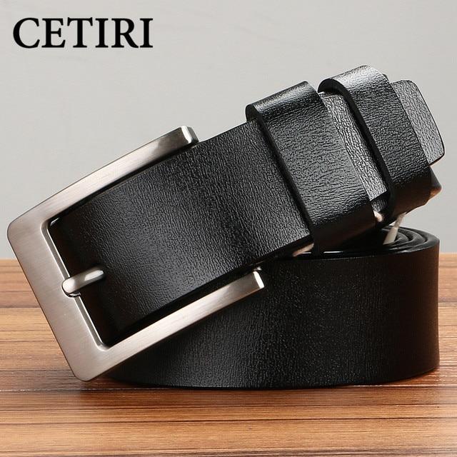 Factory Direct Wholesale 100% Genuine Cow Leather Men's Belt Designer Belts Men High Quality Pin Buckle Belt Vintage Jeans Cinto