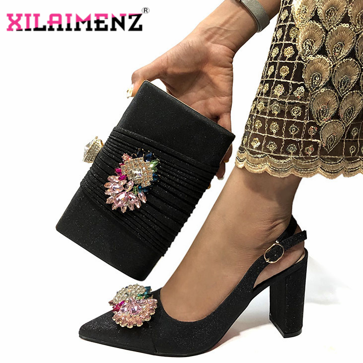 Image 5 - Mulher de alta Qualidade Sapatos De Cristal De Luxo E Bolsa de  Conjunto Para O Partido Nigeriano Sapatos Combinando Saco De sapatos de  Salto Alto Sapatos de Casamento E saco ConjuntoSapatos femininos   -