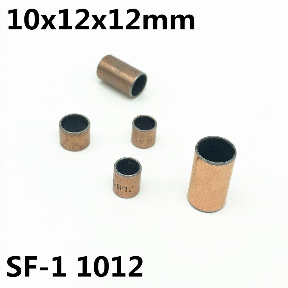 50pcs SF-1 1012 10x12x12 mm Self Lubricating Composite Bearing Bushing Sleeve SF1
