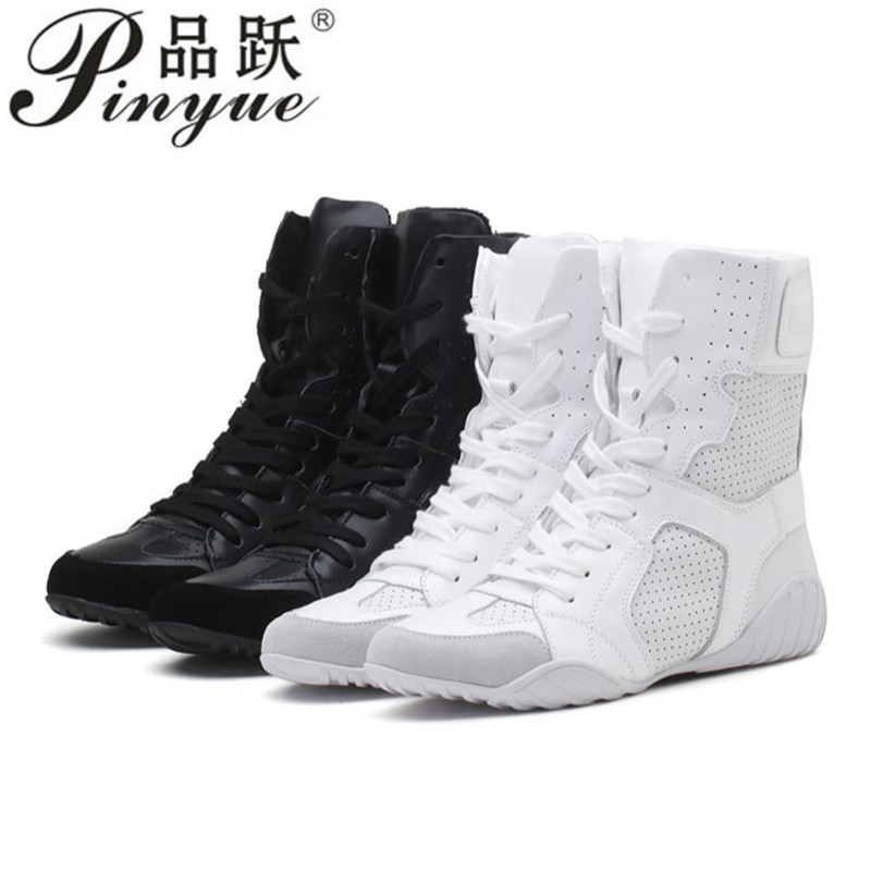 Luxury brand Hip hop dancing cool white Shoes Fashion Boots High Top Trainers genuine leather martin
