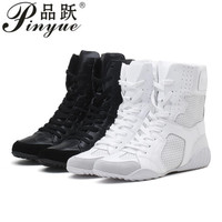 Luxury brand Hip hop dancing cool white Shoes Fashion Boots High Top Trainers genuine leather martin Boots sneakers
