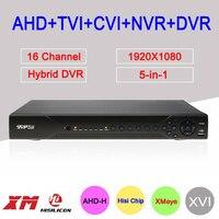 Dahua внешний 1080 P Hi3531A 16 каналов 16CH 2 * SATA 6 в 1 коаксиальный Гибридный Wi Fi NVR CVI TVI AHD видеонаблюдения DVR Бесплатная доставка