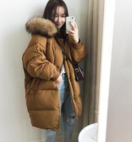 2018 Winter Jacket Women Fur Collar Female Parka Womens Winter Jackets And Eiderdown cotton Coats parka women