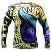 FamousBrand Man Compression Shirts O Neck Long Sleeve Novelty Bodybuilding T Shirt Dry Fit Cool Workout