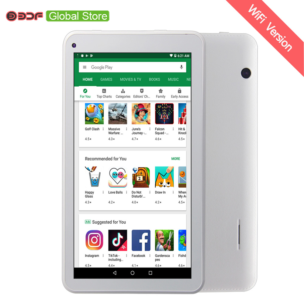 7 Inch Tablets Quad Core 1GB RAM Android Tablet 16GB Storage Tablet Android WIFI Kids Tablet FM Radio цена